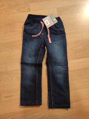 Spodnie ocieplane jeansy rozm. 104