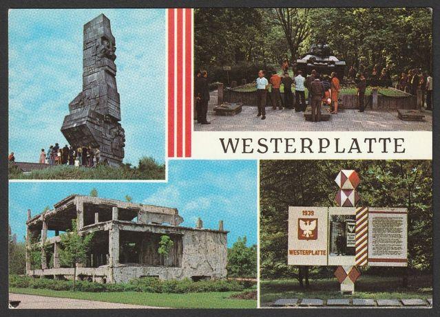pocztówka - Westerplatte 1978 - pomnik - ruiny - czołg