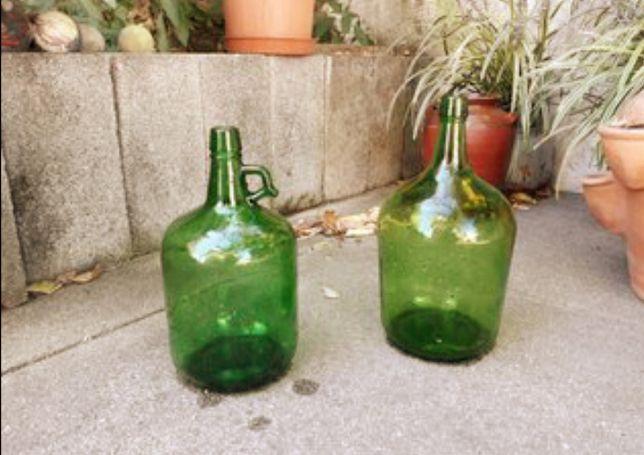 Garrafão antigo verde