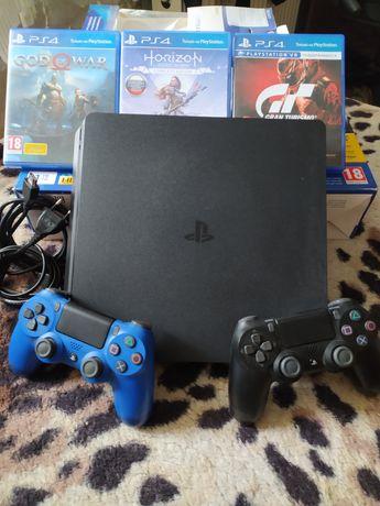 Sony PlayStation 4 Slim(Сони плестейшен) 1 ТБ, отличное состояние
