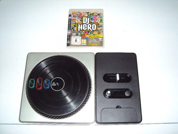 DJ Hero jogo Playstation 3 + Gira-discos/mesa de efeitos