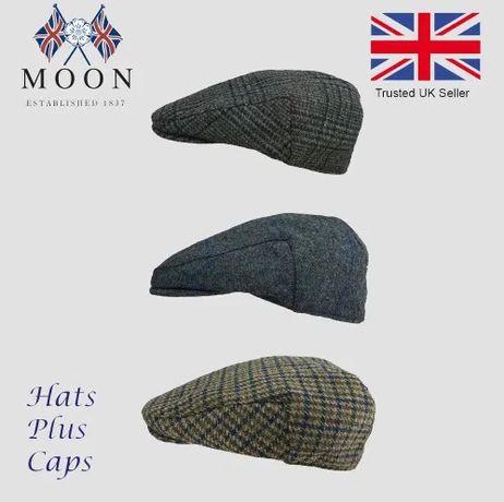 Английская кепка из йоркширского твида Moon Harris Tweed
