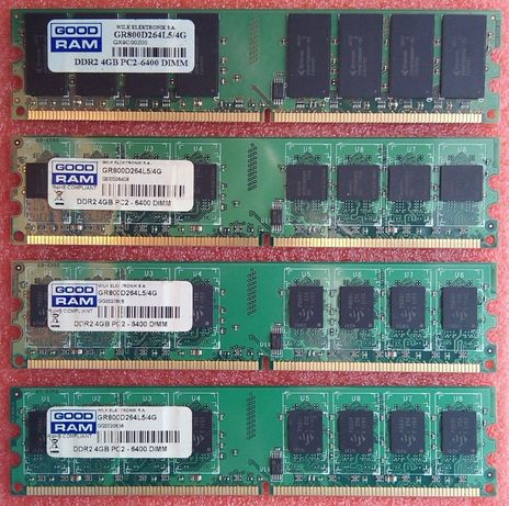 DDR2 4+4+4+4Gb 800MHz (PC2-6400) GoodRam 16Gb для Intel GR800D264L5/4G