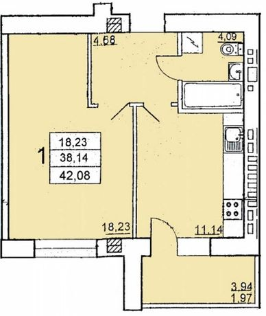 Продам 1 комнатную квартиру 42м кирпичный дом Черемушки! Срочно!