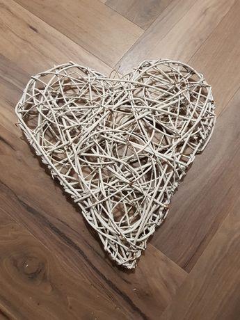 Serce wiklinowe białe około 50cm