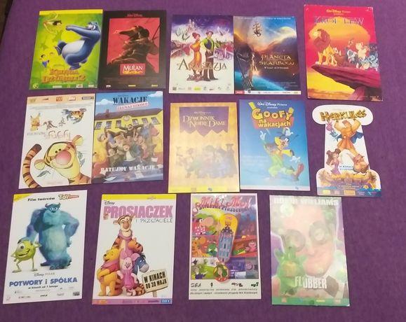 Ulotki filmowe i pocztowki z bajek  Unikaty, lata 90, Disney