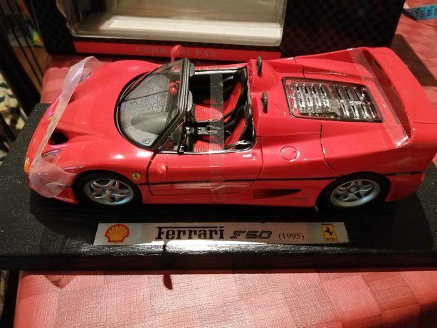 Coleção Shell Ferrari Vermelho Descapotável F50 (um*dezoito)