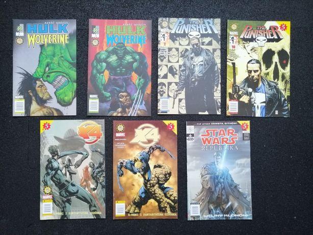 Komiksy MADNRAGORA X4 Punisher Hulk Wolverine Star Wars i inne