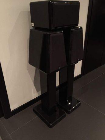 colunas xtz stereo e central hi end áudio home cinema