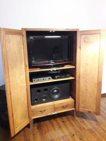 Szafa drewniana sosna pod telewizor,garderoba