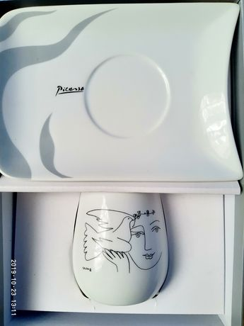 Picasso, чашка и блюдце