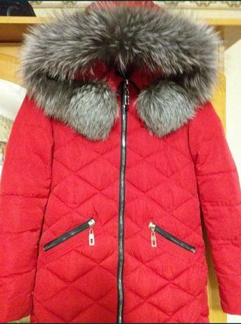 Дешево! Зимний пуховик( куртка) для девочки подростка!