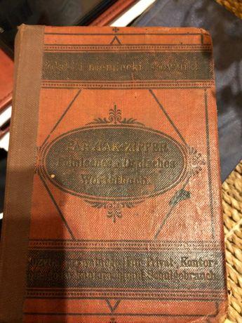 Polsko niemiecki i niemiecko polski słownik zipper 1890 antyk
