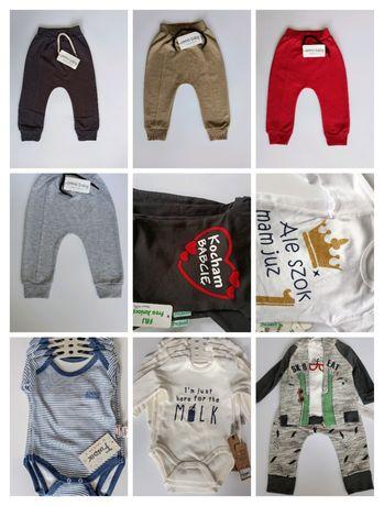 Ubranka niemowlęce body spodnie
