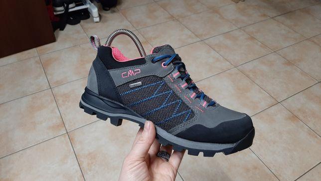38р,стелька24,5см,Трекинговые кожаные кроссовки,ботинки CMP, состояни