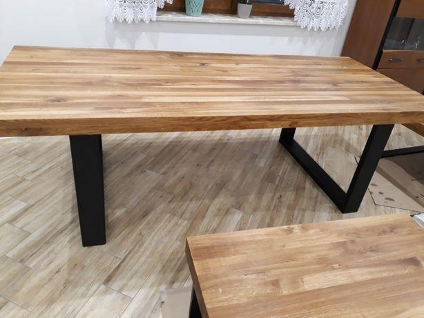 Stół dębowy industrialny 255x105