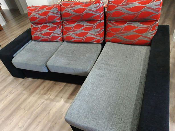 Sofá 3 lugares com chaise longue