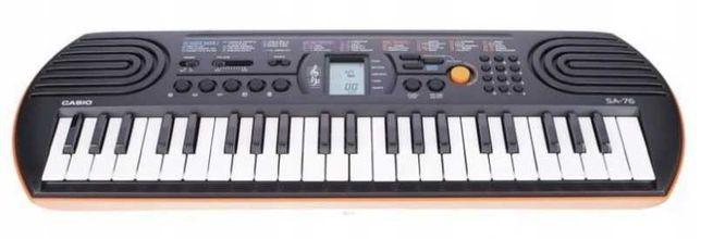 Keyboard Casio SA-76 ZASILANIE BATERYJNE, Okazja!
