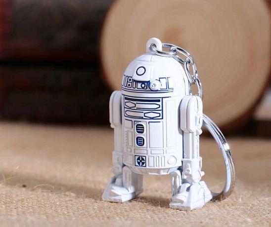 (Star Wars) Брелок стальной R2-D2 (Р2-Д2) Звездные войны двусторонний!