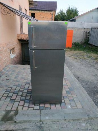 Італійський холодильник no frost 180см, нержавіюча сталь, 70 см ширина
