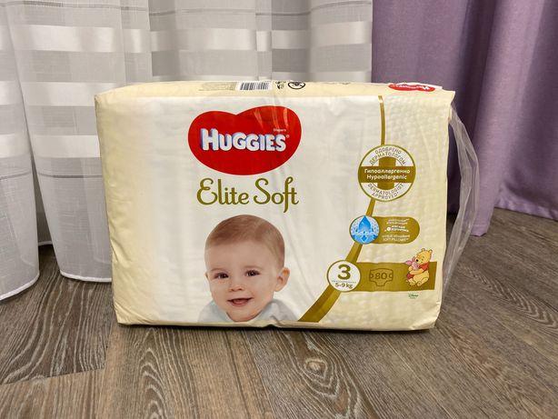 Памперсы Huggies elite soft 3
