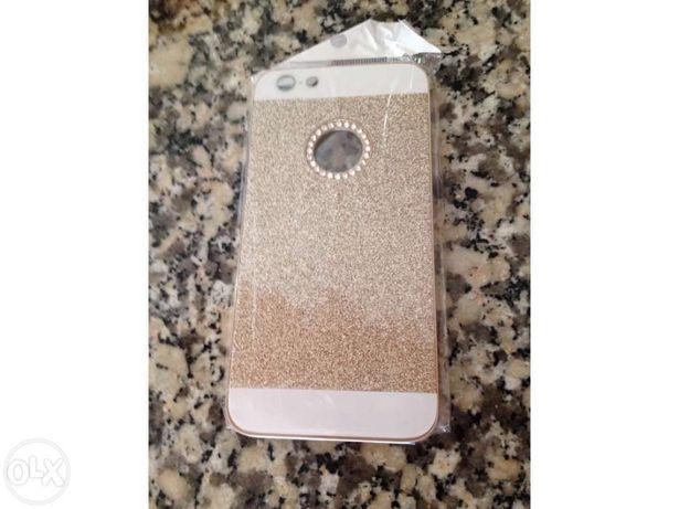 Capa iphone 6 plus dourada nova