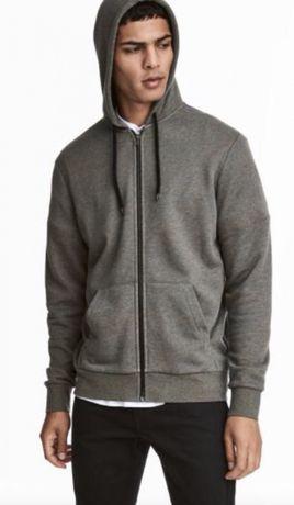 H&M - Nowa bluza z kapturem Regular Fit - r M - dresowa bawełna