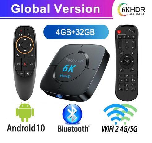 Transpeed 6K Smart TV Box приставка 4/32GB Android 10 Bluetooth 4K