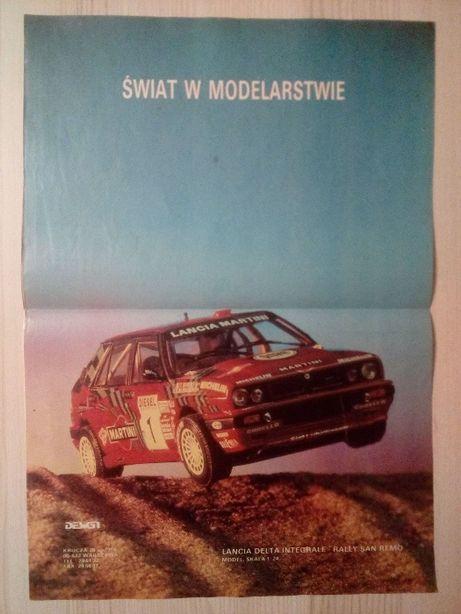 Plakat Poster Lancia Delta HF Integrale 33,5cm x 47,5cm Model 1/24 WRC
