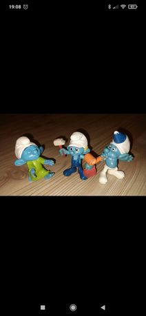Figurki Smerfy 3 sztuki