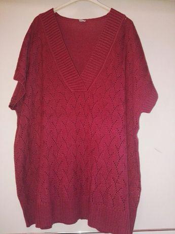 Sweterek bordo r 3XL