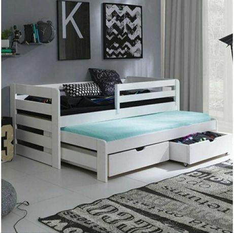 Детская  деревянная кроватка с дополнительным спальным местом кровать