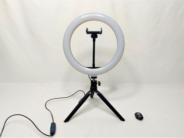 [NOVO] Ring Light 26 cm e Tripé 16 cm c/ Suporte Tlm. e Com. Bluetooth