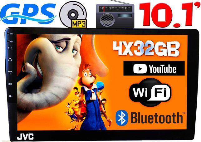 Автомагнитола JVC экран 10 2DIN, 4/32GB IPS,GPS,Android10 4x60W