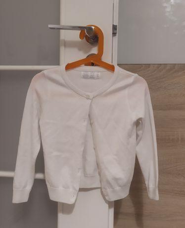 Elegancki biało-kremowy sweterek kardigan Cool Club rozm. 98