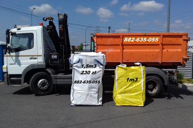 Worki na Odpady Gróz Śmieci BIG BAG Gruz 1,5m 250zł Wywóz Gruzu Tanio