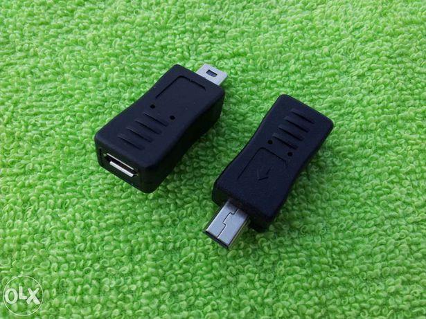 adapter z micro-USB do mini-USB oraz odwrotnie z mini do micro USB