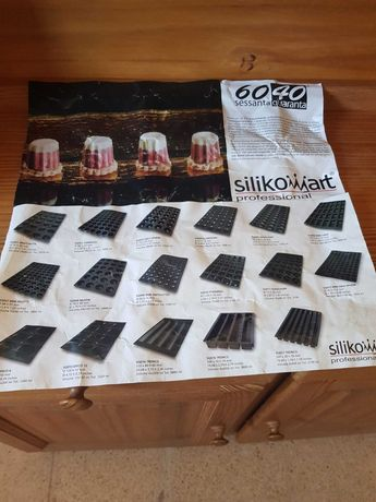 Conjunto de oito formas de silicone (profissional)