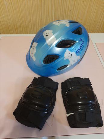 Шлем велосипедный и наколенники р.46-53 каска защитный