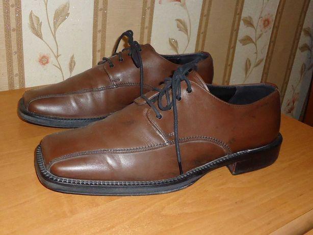 Мужские кожаные туфли NAVYBOOT, размер 41(27), 6,5, Швейцария.