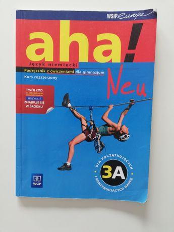 Podręcznik z ćwiczeniami dla gimnazjum Aha Neu 3A