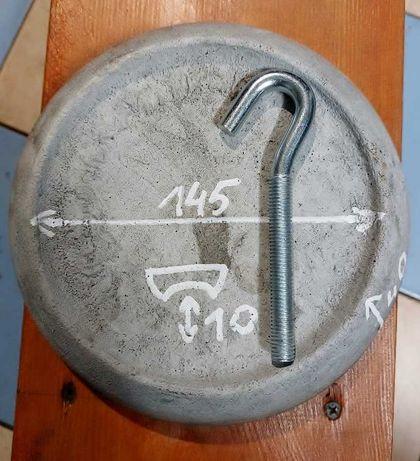 Deflektor ceramiczny 200 mm do kotłów 15-25kW+ HAK, Grubość: 40 mm