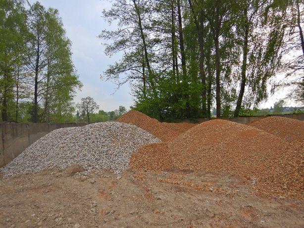 Kruszywa 0-31,5 piasek siany żwir drenażowy czarna ziemia czarnoziem