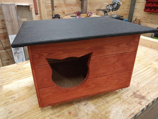 Nowa, rewelacyjna buda/domek dla kota, MAHOŃ