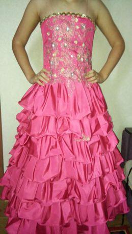 Бальное карнавальное платье 8-10 лет 134-140 см + туфли в подарок