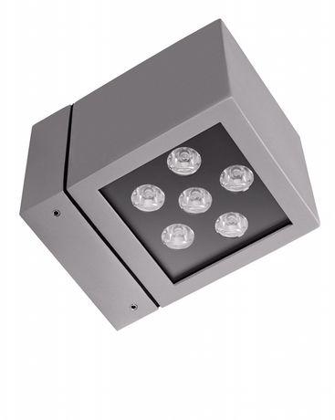 ICE CUBE 1 LED 8W 3000 IP54 10° SZARY- elewacyjna oprawa dekoracyjna