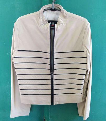 Продается новый кожаный пиджак-курточка