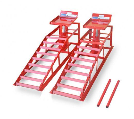 16786 Czerwone rampy najazd podjazd warsztatowy podnośnik hydrauliczny