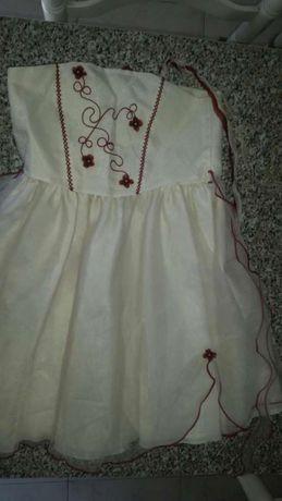 Vestido Caicai casament e Baptizados 3/4Anos faço entrega domicílio
