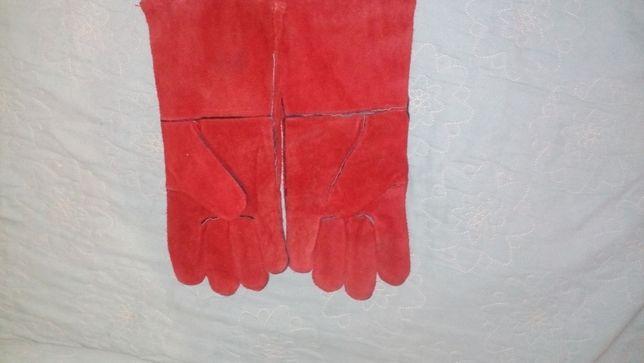 Сварочные краги перчатки длинные хорошего качества